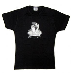 Betty Boop - Street Angel - Black Ladies Fitted T-Shirt